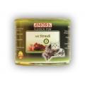 Amora konserv kassidele looma- ja jaanalinnulihaga 12x200 gr. 100% liha!