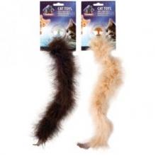 Sulgedega ja kõrinapalliga mänguasi kassile